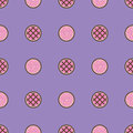Pie pattern. Seamless vector flat food background