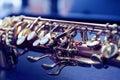 Piece of alto saxophone Royalty Free Stock Photo
