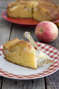 A piece of apple pie in rustic style Stock Photography