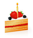 Piece of birthday cake Stock Image