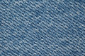 Piece of blue denim fabric structure Stock Image