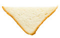 Piece of bread wheat isolated top view Stock Images