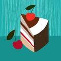Piece of cake illustration Stock Photography