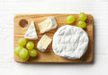 Piece of camembert cheese