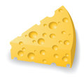 Piece of cheese colorful illustration with and paint for your design Royalty Free Stock Photography