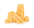 Piece of cheese isolated Royalty Free Stock Photo