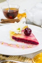 Piece of cherry pie Royalty Free Stock Photography