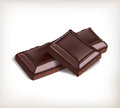 Piece of chocolate.Vector.EPS10 Royalty Free Stock Photo