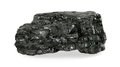 Piece of coal isolated on white background Royalty Free Stock Image
