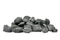 Piece of coal isolated on white background Stock Photography
