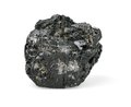 Piece of coal isolated on white background Stock Image