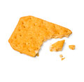 A piece of cracker on white with clipping path Stock Image