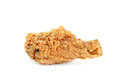 Piece crispy fried chicken isolated white background Stock Image