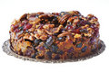 Piece of Delicious Fruit and Nut Cake Royalty Free Stock Photography