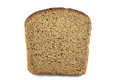Piece of fresh rye bread on a white background Royalty Free Stock Images