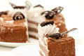 Piece of fresh and sweet dessert cakes Royalty Free Stock Images