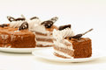 Piece fresh sweet dessert cakes see my other works portfolio Stock Image