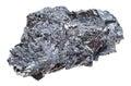 Piece of hematite iron ore stone isolated