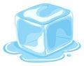 Piece of ice cube melting Royalty Free Stock Photo