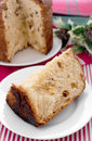 Piece of italian christmas cake panettone Stock Photo