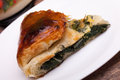 Piece Of Italian Pie With Chard Stock Image