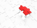 Piece of a jigsaw puzzle d Royalty Free Stock Images