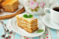 A piece of layered apple pie Royalty Free Stock Photography