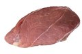 A piece of meat isolated on the white background Stock Photo