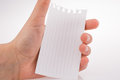Piece of paper in hand Royalty Free Stock Photo