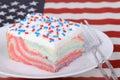 Piece of Patriotic Cake Royalty Free Stock Photo