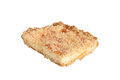 Piece of shortbread cake isolated on white background Royalty Free Stock Photo