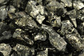 Pieces of black coal closeup Royalty Free Stock Images