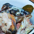 Pieces of boiled fish pike in a plate that look natural Royalty Free Stock Photo