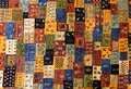 Pieces of colorful patterned carpets as backgrounds