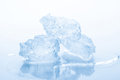 Pieces of crushed ice on white background Stock Image
