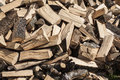 Pieces of firewood on a large pile Royalty Free Stock Photo