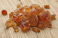 Pieces of Gum arabic Royalty Free Stock Photo