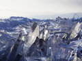Pieces of ice glisten in the sun lake baikal russia Royalty Free Stock Photo