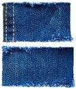 Pieces of jeans fabric Royalty Free Stock Photo