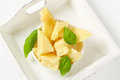 Pieces of Parmesan cheese Royalty Free Stock Photo
