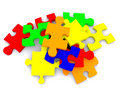 Pieces of a puzzle Stock Photography