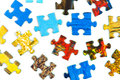 Pieces of puzzle isolated on white background Royalty Free Stock Photography