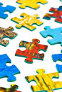Pieces of puzzle isolated on white background Royalty Free Stock Images