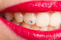 Piecing the teeth Royalty Free Stock Photo