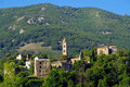 Piedicroce corsica village Royalty Free Stock Images