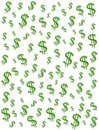 Pieniądze tła dolara znaków Fotografia Royalty Free
