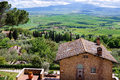 Pienza tuscany italy may overlooking val d orcia tuscany on Stock Photography