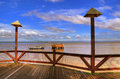 Pier in Amazonia Stock Photos