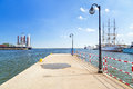 Pier at the baltic sea in gdynia poland Stock Photos