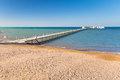 Pier on the beach of red sea in hurghada egypt Royalty Free Stock Photography